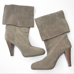 Joie Stop & Starr suede tall boots tan wood 38